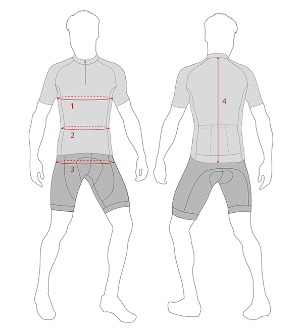MTB Jersey measuring guide