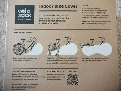Velo Sock bike cover instructions